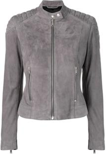 Belstaff Mollison Leather Jacket - Cinza