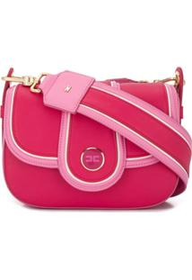 Elisabetta Franchi Panelled Shoulder Bag - Rosa