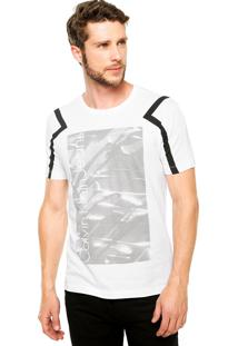 Camiseta Manga Curta Calvin Klein Jeans Print Branca