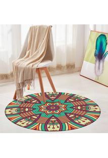 Tapete Redondo Wevans Mandala Happy 84Cm