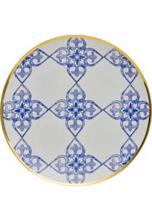 Prato Sobremesa Coup Lusitana Porcelana 21 Cm Oxford