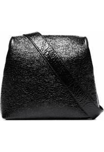 Osoi Bolsa Tiracolo Brot Texturizada De Couro - Preto