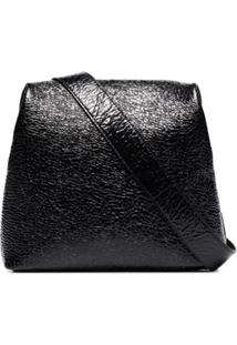 Osoi Brot Wrinkle Leather Shoulder Bags - Preto