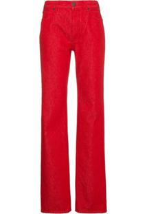 ... Calvin Klein 205W39Nyc Calça Jeans Reta Cintura Alta - Vermelho bee1625890e