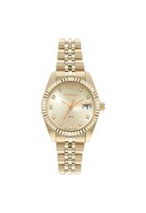 Relógio Technos Feminino Analógico Dourado Gl10Ig1D