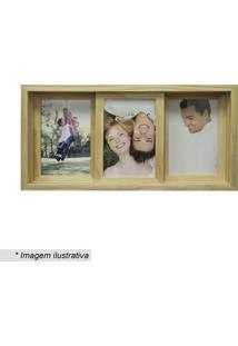 Painel Slide Para 3 Fotos- Bege- 19X38Cm- Kaposkapos