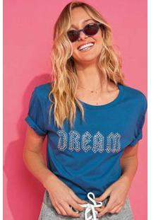 Blusa Azul Dream Aplique Enfim