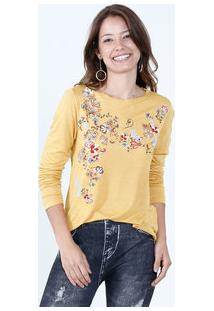 Blusa Feminina Estampa Floral High Low Mister