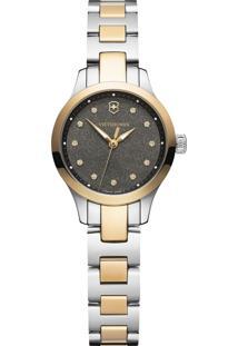 Relógio Victorinox Swiss Army Feminino Aço Prateado E Dourado - 241876