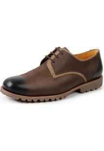 Sapato Social Derby Sandro Moscoloni Ioshua Marrom Escuro