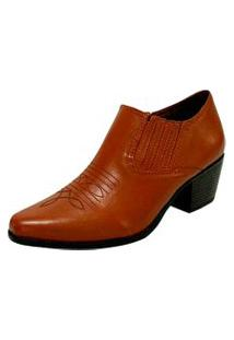 Sapato Fechado Rubi Marrom