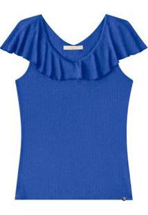Blusa Com Mangas Lunender Azul