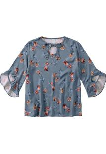 Blusa Estampa Floral Digital Malwee