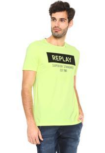 Camiseta Replay Superior Standard Verde