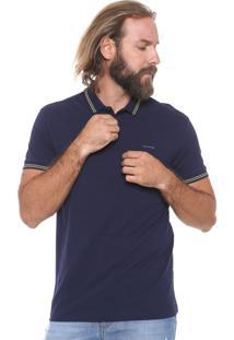 Camisa Polo Sommer Reta Listras Azul-Marinho