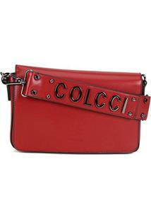 Bolsa Colcci Flap Super Logo Feminina - Feminino-Vermelho