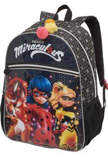 Mochila Escolar Miraculous Lady Bug Heroínas