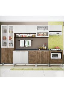 Cozinha Compacta 13 Portas Emanuella 0422T Demolição/Gelo 3D - Genialflex