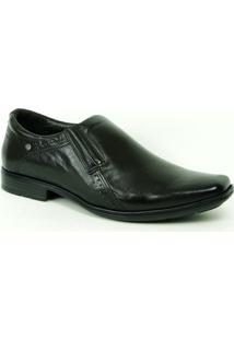 Sapato Social Pegada Com Ajuste Elástico - Masculino-Café