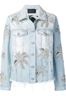 Philipp Plein Aloha Plein Denim Jacket - Azul