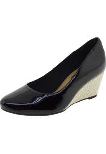 Sapato Feminino Anabela Beira Rio - 4791200 Verniz/Preto
