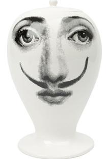 Fornasetti Vaso 'Femme Aux Moustache' - Preto