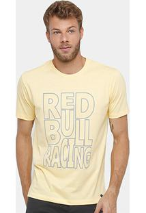 Camiseta Red Bull Racing Color Masculina - Masculino-Amarelo
