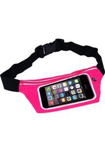Pochete Fitss Para Celular Com Porta Chave Rosa