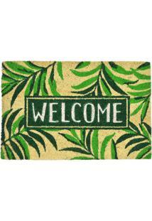 Capacho Welcome- Verde Claro & Verde- 1,5X60,5X40Cm