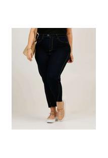 Calça Plus Size Feminina Jeans Cigarrete