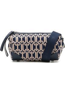 Bolsa Carmim Estampada Azul-Marinho