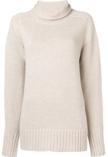 Joseph Oversized Roll Neck Knitted Sweater - Neutro