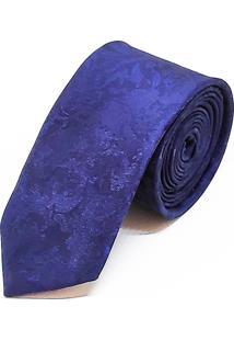 Gravata Concetto Seda Slim Azul Marinho