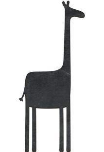 Quadro Decorativo Lousa De Giz Girafa- Preto- 55X24Cia Laser