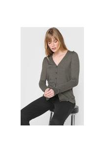 Cardigan Tricot Guess Liso Grafite