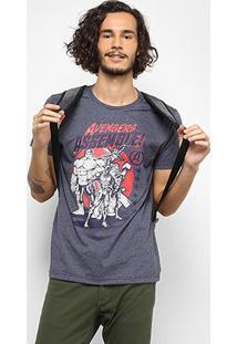 Camiseta Marvel Avengers Masculina - Masculino-Marinho