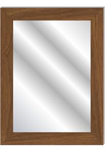 Espelho Com Moldura Em Madeira Anny 80X60Cm Ipê
