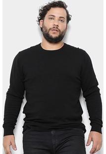 Blusa Tricô Delkor Plus Size Masculina - Masculino-Preto