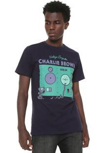 Camiseta Snoopy Computer Azul