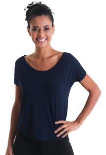Camiseta Gola Canoa - Azul - Líquido