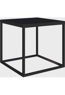 Mesa Quadrada Cube M Preto/Preto Artesano - Preto - Dafiti