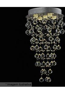 Plafon Alba Redondo- Cristal- 70Xø40Cm- Bivolt