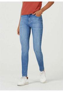 Calca Super Skinny Fem Azul-Medio