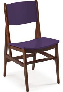 Cadeira Dumon 87 Cm 951 Cacau/Roxo - Maxima