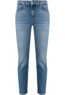 7 For All Mankind Calça Jeans Skinny Cropped Roxanne - Azul
