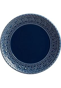 Prato Sobremesa Greek Deep Blue 6 Peças Porto Brasil