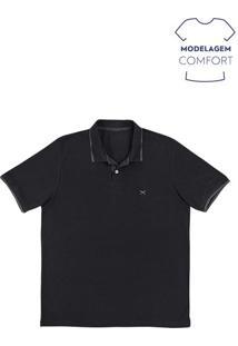Camisa Polo Masculina Básica Com Bordado Na Modelagem Comfort