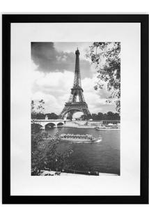Quadro Torre Eiffel Kapos Preto 43X33Cm