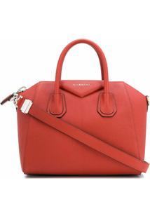 Givenchy Bolsa Tote Antigona Pequena - Laranja