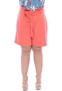 Shorts Clochard Laranja Plus Size